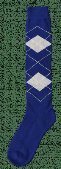 Excellent Chaussettes genoux RE d.bleu / beige 43-46