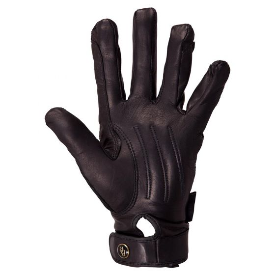 Gants d'équitation BR Comfort Pro Spandex sur la paume en cuir