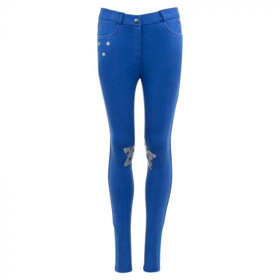 Premiere Pantalon d'équitation Patchs genoux silicone enfant Blue Bell