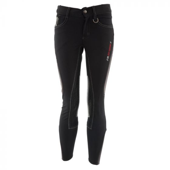 BR Pantalon d'équitation Mika siège enfant microfibre avec genouillères en silicone
