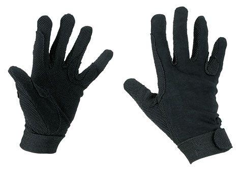 Hofman Gants d'équitation en coton Black XL