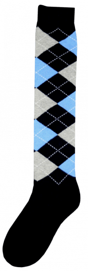 Excellent Chaussettes genoux RE d.bleu / gris / bleu 43-46