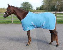 QHP  Fleece Rug color with cross surcingles Sky 115