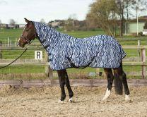 Harry's Horse Chemise anti-mouches avec couvre-cou, zebra medival blue