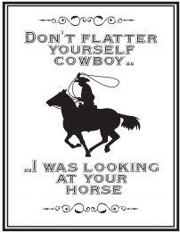 QHP Signe de Texte 'Cowboy'