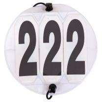 Numéros de départ ronds blancs