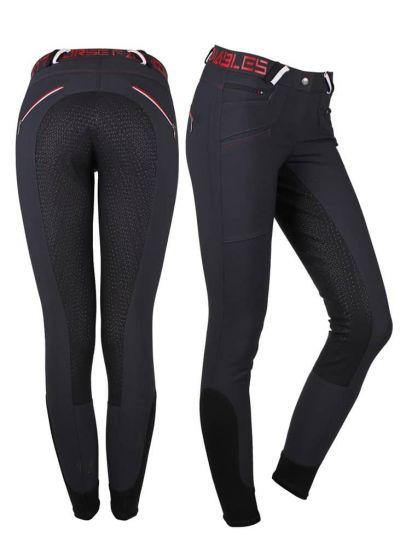 QHP Pantalon D'équitation Lisa Antidérapant Siège