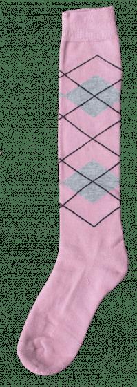 Excellent Chaussettes genoux RE l rose / l gris 43-46