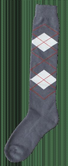 Excellent Chaussettes genoux RE gris / beige 43-46