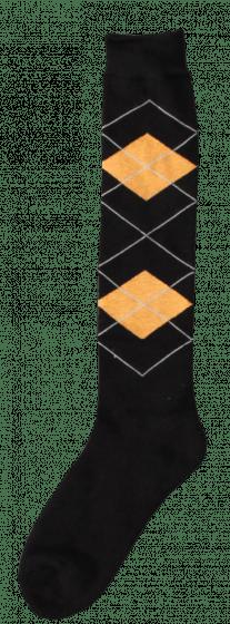 Excellent Chaussettes genoux RE d.brown / orange 43-46