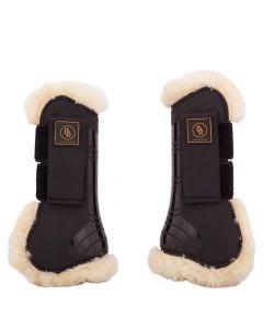 BR Sangles pour bottes d'équitation BR Snuggle imitation peau de mouton