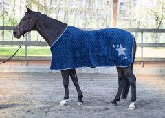 Couverture en laine polaire Harry's Horse LouLou Ensign Blue