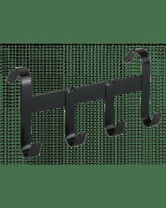Hofman Porte licol métal avec 4 crochets de suspension noir