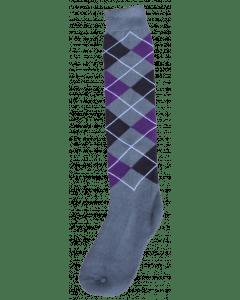 Excellent Chaussettes genoux RE gris / noir / violet 43-46