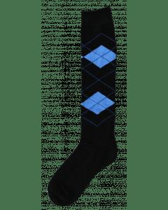 Excellent Chaussettes genoux RE noir / bleu clair 43-46