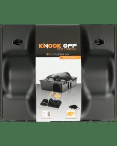 Knock Off Feed Box Rat / Souris Appât double incl. Pince à rat