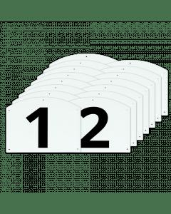 Vplast Afficher le jeu de lettres et de numéros de saut terminé