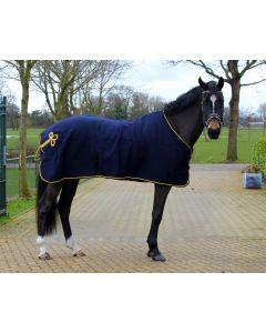 QHP Couverture ornement laine Noir / argent 205