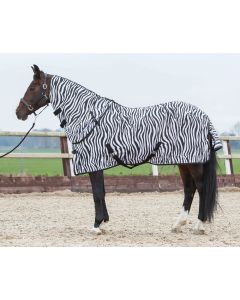 Harry's Horse Couverture anti-mouche avec zèbre de cou amovible