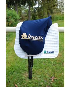 Bucas  Max Saddle Cover. Shaped. Navy.Bucas Logo