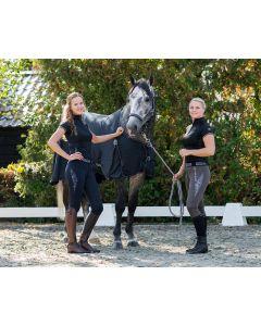 QHP Culotte d'équitation pull-on Ella antidérapant siège complet Gris 34