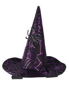 QHP Chapeau de sorcière Halloween cheval Araignée