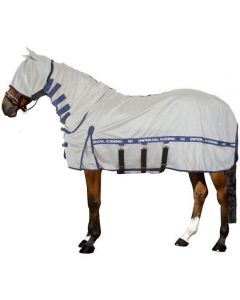 Imperial Riding Tapis anti-mouches anti-UV avec cou, masque et rabat ventre