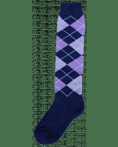 Excellent Chaussettes genoux RE d.bleu / lilas / gris 43-46