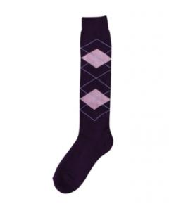 Excellent Chaussettes genoux RE violet / rose 43-46