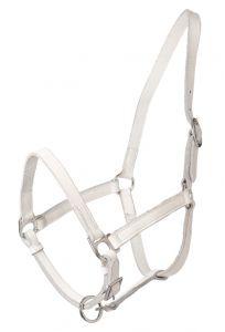 HB White Leather Halter Shetland