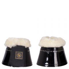 Chaussures à superposition BR en peau de mouton laquée glamour