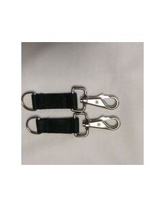 Bucas  Belly Pad Extender Strap Pairs Navy with Black hooks