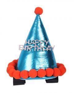 QHP Chapeau d'anniversaire cheval Ciel