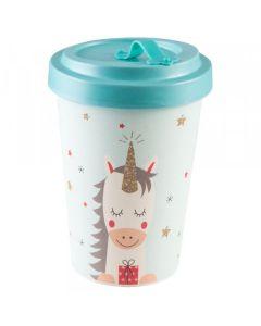 PFIFF Tasse Coffee to Go 'DREAMING UNICORN' en bambou