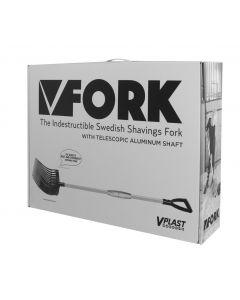 Hofman Vplast Fourche à lisier en plastique avec poignée en aluminium dans une boîte