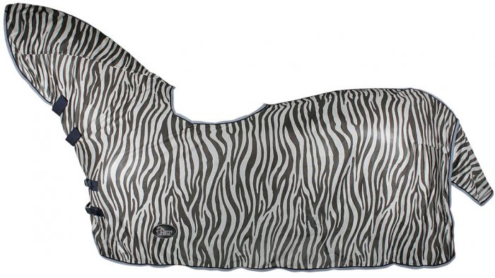 Harry's Horse Moustiquaire maille, évidement cou et selle, gris zèbre