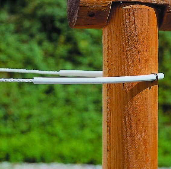 Hofman Isolateur tube flexi blanc à 8 mm cordon