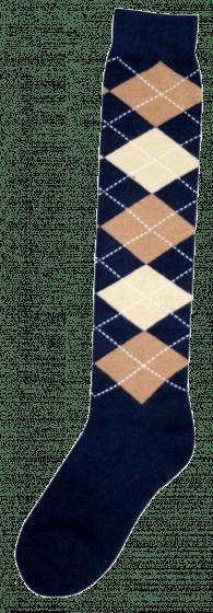 Excellent Chaussettes genoux RE d.blue / l.brown / beige 43-46