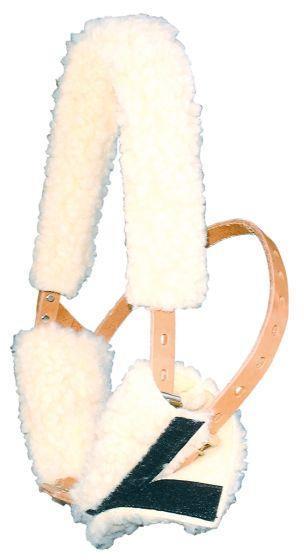 Harry's Horse Fourreau muserolle et frontal pour Miracle Collar beige