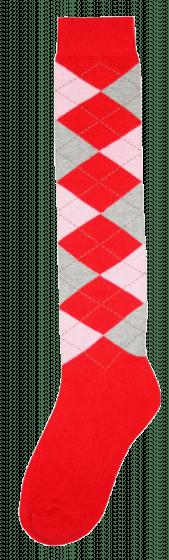 Excellent Chaussettes genoux RE rouge / rose / gris 43-46