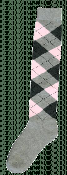 Excellent Chaussettes genoux RE gris clair / gris foncé / rose 43-46